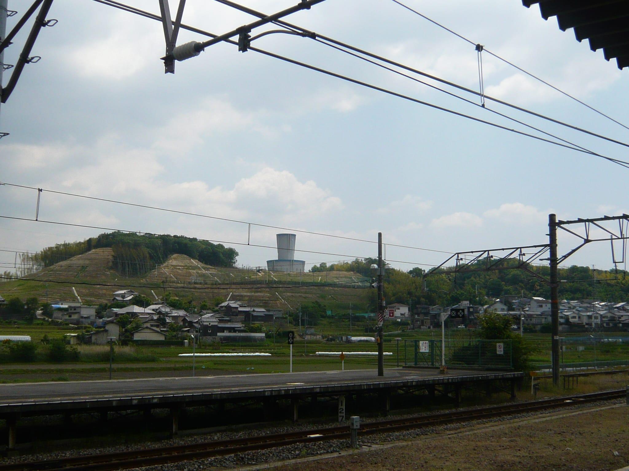 木津駅から眺めた風景